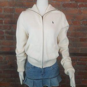 Ralph Lauren Sport Women's Cardigan Sweater Ivory